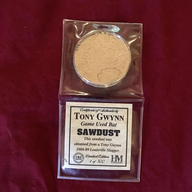 Tony Gwynn San Diego Padres Game Used Baseball Bat Sawdust