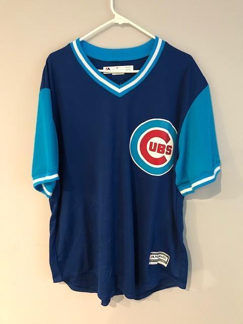the best attitude c90e7 f7e24 Chicago Cubs Custom Big Cat Jersey XL Bin7