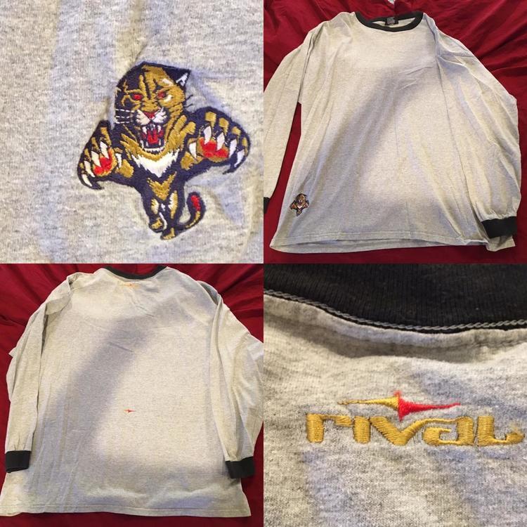 innovative design c7cd5 9f07d Vintage Florida Panthers Rivals XL NHL Hockey Undershirt Long Sleeve Shirt