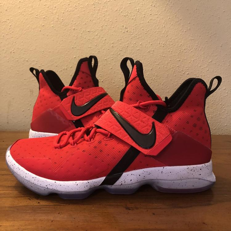 best service 1b9e8 9769b Nike LeBron 14 'Red Brick Road' Men's Basketball Sneakers Size 9.5  852405-600