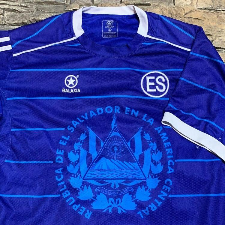 super popular 02862 37b37 El Salvador Central America National Soccer Team Futbol Jersey Mens Large