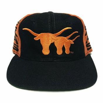 more photos e0037 48d2a  19. 1 · VTG Texas Longhorns Wool Snapback Hat NCAA Cap UT ...