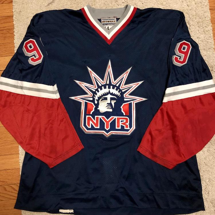 hot sale online a9833 0f79a Authentic New York Rangers Gretzky Lady Liberty 54-R