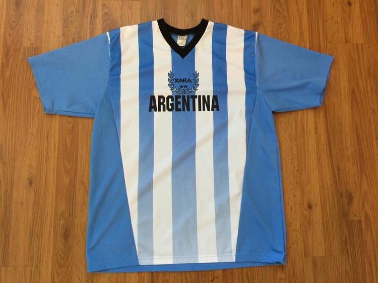 finest selection 604f9 9481e Argentina National Soccer Team SUPER AWESOME Xara Football Futbol Size XL  Jersey!