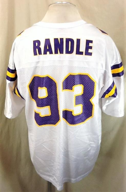 the latest 7c248 0ffd3 Champion Vintage John Randle #93 (XL/48) Retro Minnesota Vikings White NFL  Jersey | Football Apparel | SidelineSwap