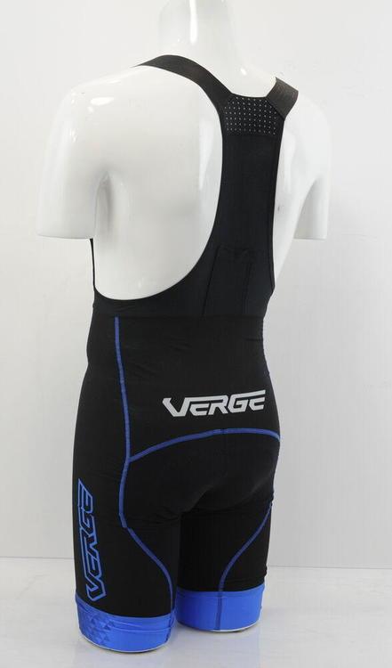 Verge Men/'s Core Bold Collection Cycling Bib Shorts Black//Blue XS Brand New