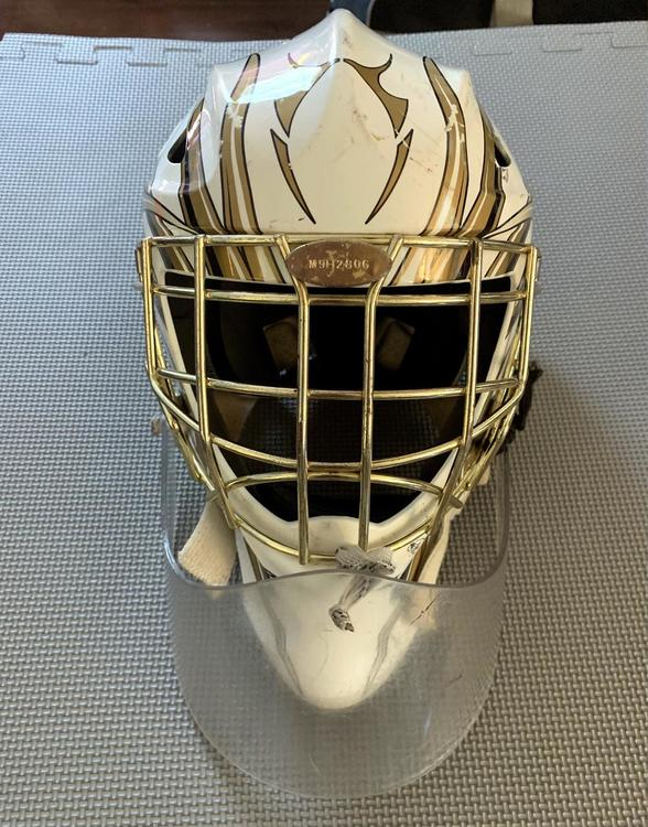 Bauer Profile 1400 Mask Junior White Gold With Dangler Hockey