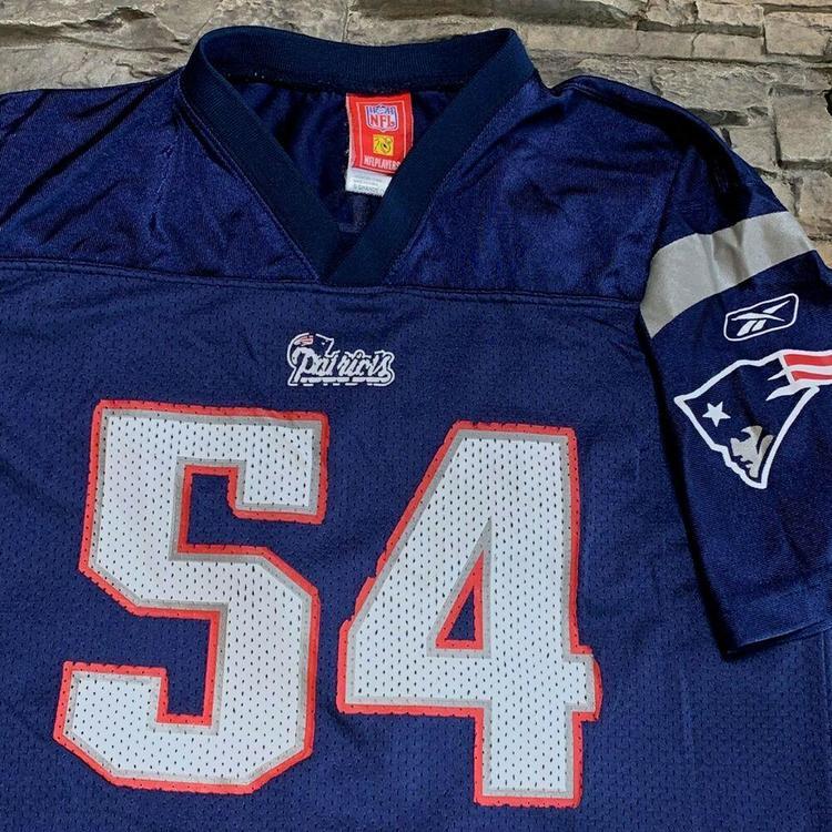 buy popular e05f7 9ec79 Tedy Bruschi New England Patriots NFL Football Jersey Reebok Boys Youth YL
