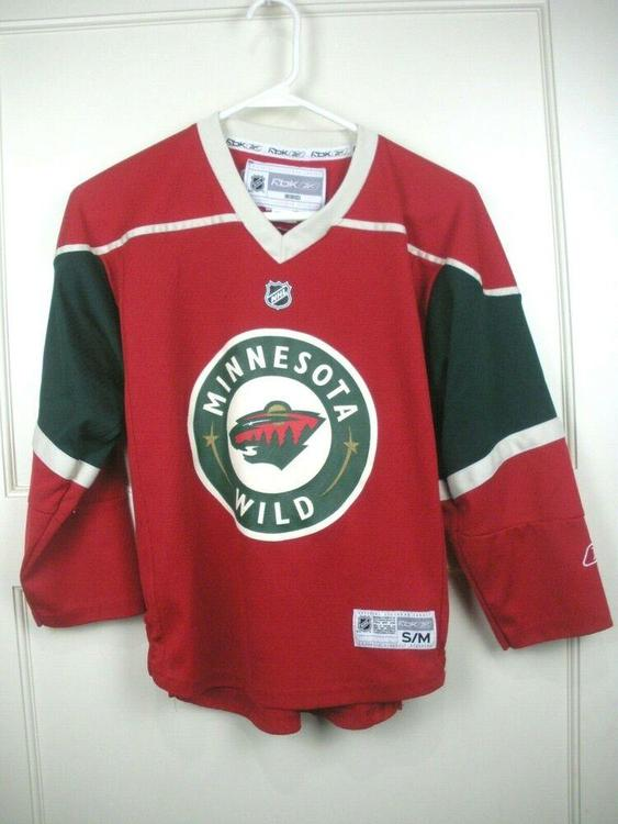 new styles 1bf78 7e0bf Minnesota Wild Official NHL Reebok Iron Range Red Hockey Jersey Youth Kid's  S/M