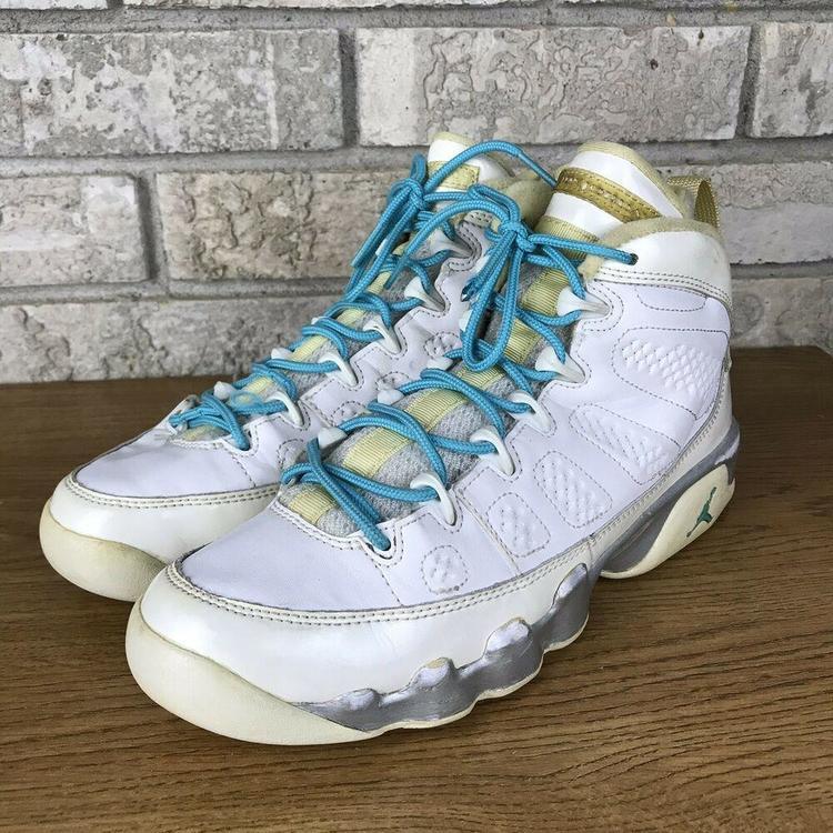 info for b4b6e be249 Nike Jordan Retro 9 Size 6y High Top Basketball Shoe Blue (wmns 7.5) OG  Used Vtg