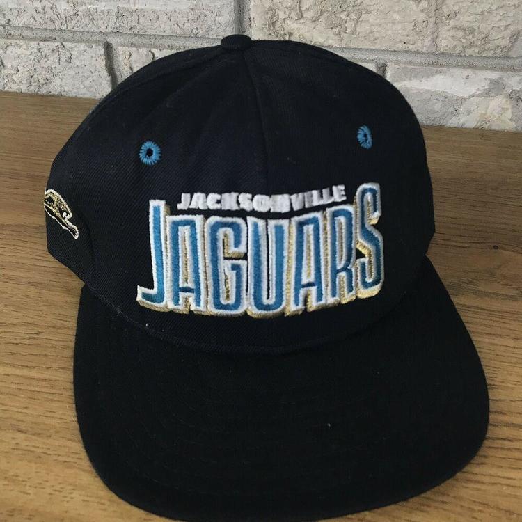 3feb8d40c Vtg 90s Jacksonville Jaguars AJD Snapback Hat Cap Blockhead Script NFL  Vintage | NEW LISTING | Apparel Hats | SidelineSwap
