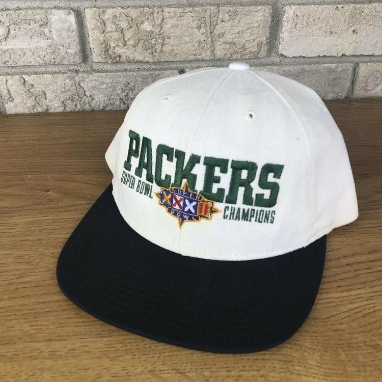 d0bfc981b RARE VTG 90s NIKE Greenbay Packers Super Bowl Snapback Hat Cap XXXII  Champions