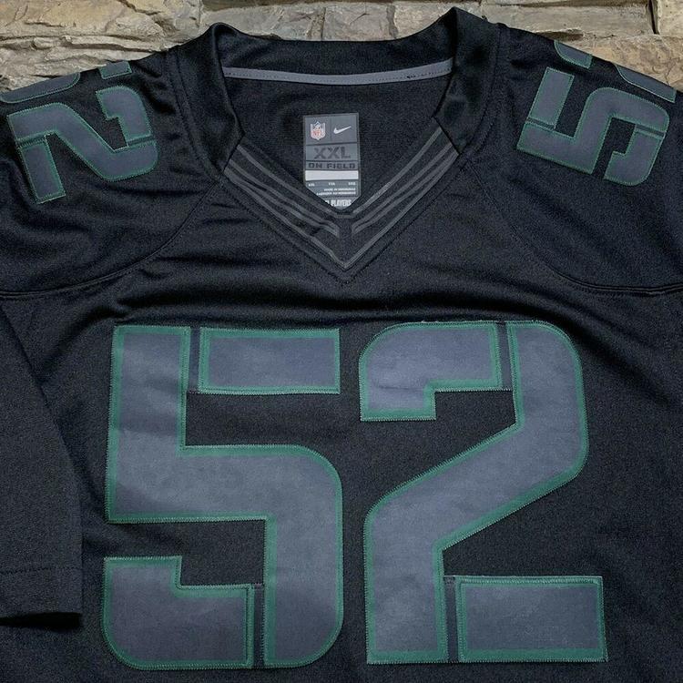 half off 9dc56 a2945 Clay Matthews Green Bay Packers Black Alternate Nike NFL Football Jersey 2XL