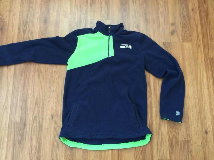 sports shoes 67fab 1f011 Seattle Seahawks NFL Football SUPER AWESOME Kids Boys Size XL Pullover Warm  Up!