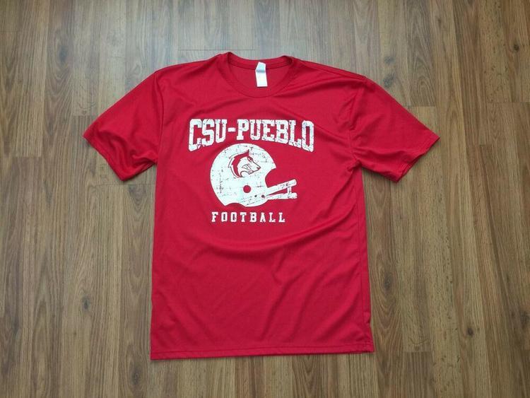 outlet store bdfcb 964b7 CSU PUEBLO THUNDERWOLVES Football SUPER AWESOME Colorado State Size L T  Shirt!