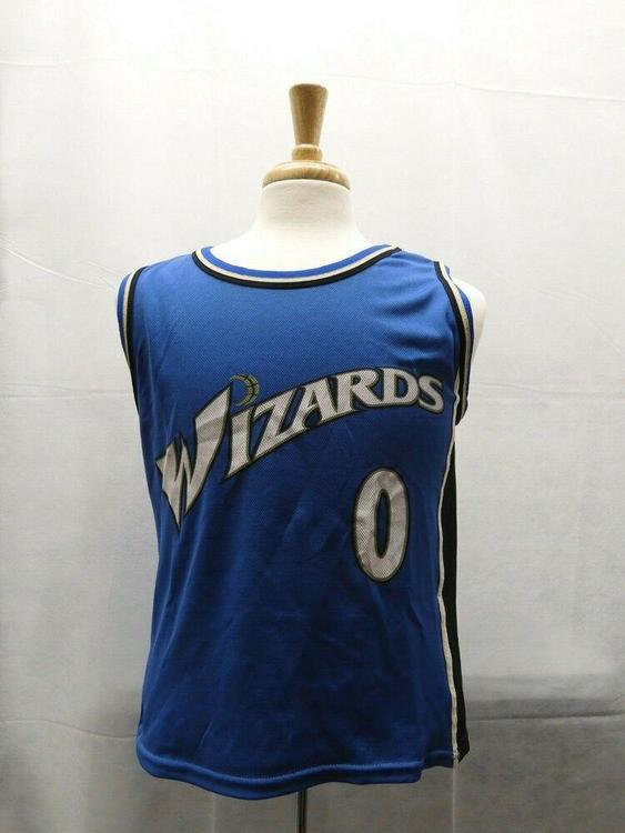low priced ae889 9bcab Gilbert Arenas Washington WIzards Jersey Youth XL Blue NBA