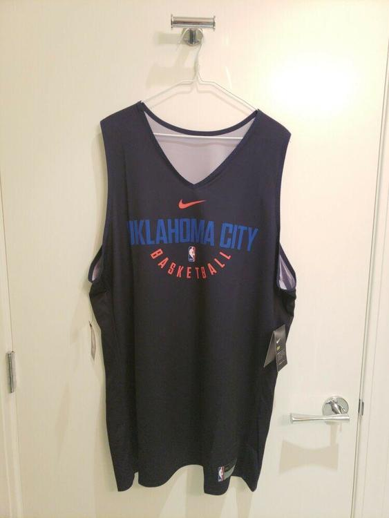 size 40 c2c18 37925 NWT Nike OKC Thunder Oklahoma City NBA Reversible Practice Jersey XXL 2XL