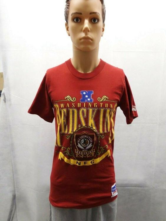 promo code d12ee a59a0 Vintage Washington Redskins Nutmeg Mills Shirt M Red NFL Deadstock