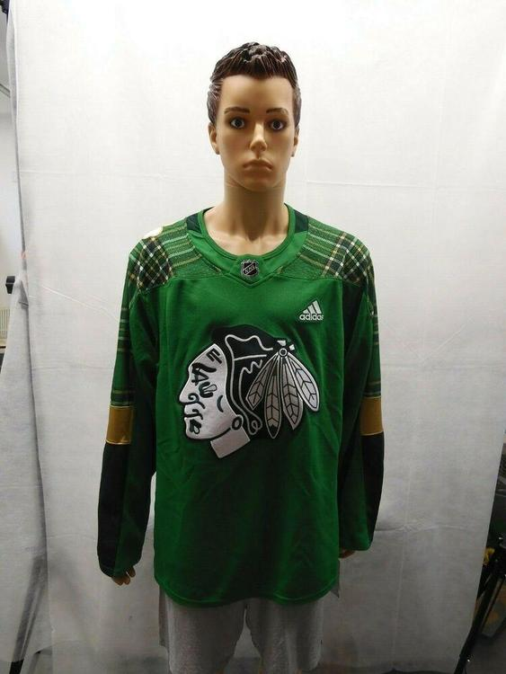 outlet store 277ac e2184 NWT Chicago Blackhawks Adidas St. Patricks Day Jersey size 54 Green  Climalite