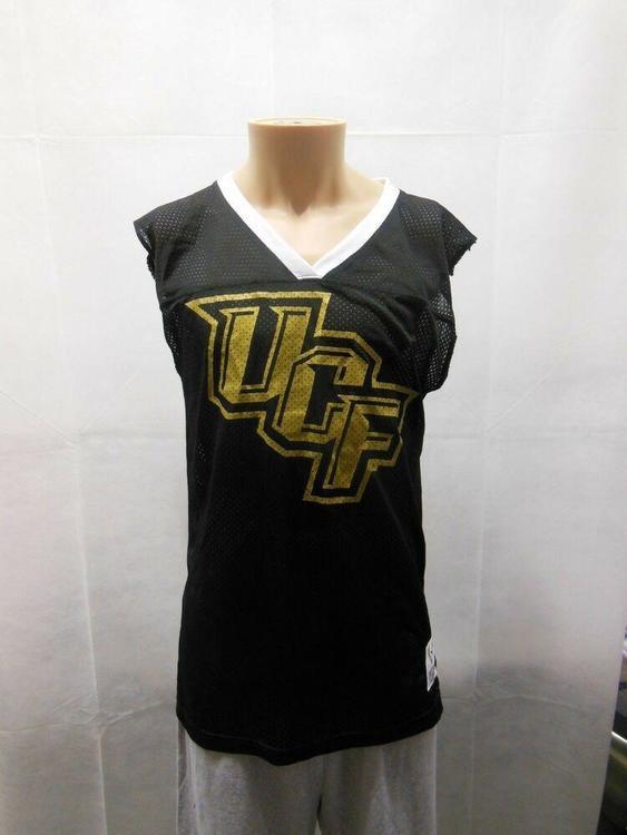 83432619cb301 Victoria Secret Pink UCF Knights Jersey L Black NCAA Sleeveless Womens