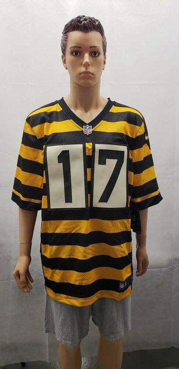 the latest 66e9b d9adf NWT Mike Wallace Pittsburgh Steelers Bumblebee Jersey Nike 52 Authentic