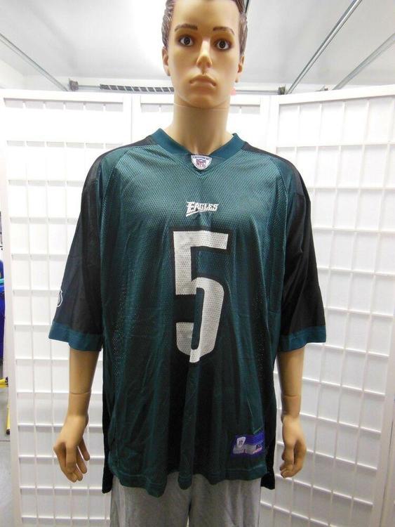 Vintage Donovan McNabb Two Toned Reebok Football Jersey XL Green/Black Eagles