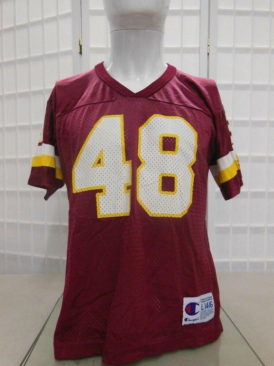 best website 33405 4a69a Washington Redskins Stephen Davis #48 jersey youth size LG 14-16 Champion  VTG