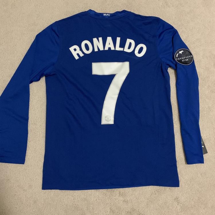 quality design 3fcc8 9d7de 08/09 Ronaldo Manchester United CL Jersey