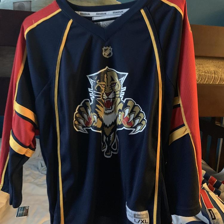 sports shoes c8f08 3ff51 Florida Panthers Blank Home Reebok Jersey Youth L/XL