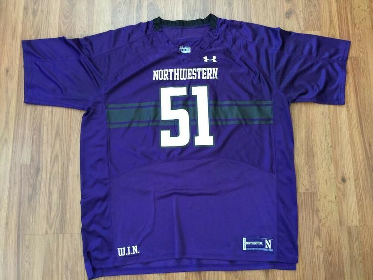 buy popular 40b86 65a5c Northwestern Wildcats NCAA Football SUPER AWESOME Under Armour Size 4XL  Jersey!
