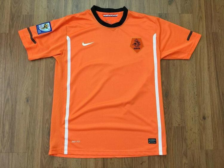 71637178167 Netherlands National Soccer Team NIKE AUTHENTIC Sz L World Cup 2010 HOME  JERSEY!