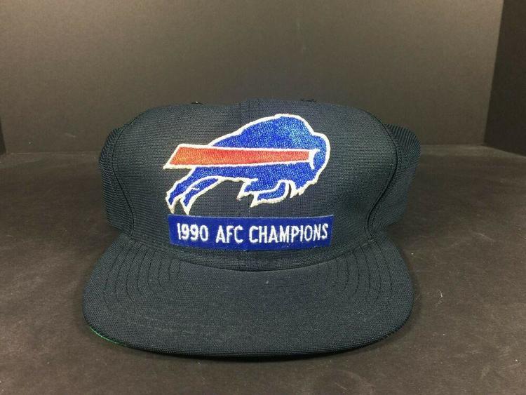 e5420e89 Buffalo Bills NFL SUPER VINTAGE 1990 AFC CHAMPIONS New Era Snap Back Cap  Hat!