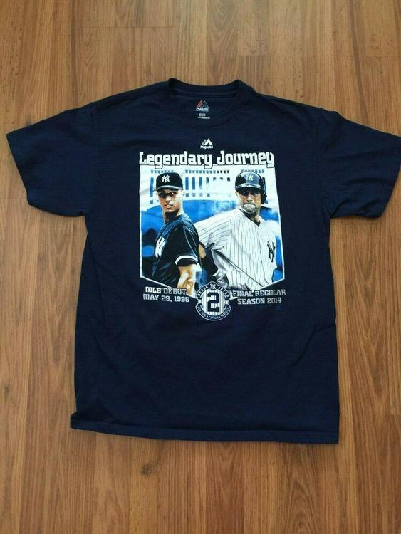 free shipping b585c 00bfa New York Yankees Derek Jeter SUPER AWESOME MLB Legendary Journey Sz M T  Shirt!