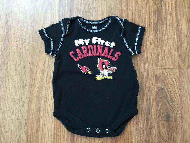 buy popular 8cff0 32b9a Arizona Cardinals NFL 0-3 Months SUPER AWESOME My First Cardinals Baby Body  Suit