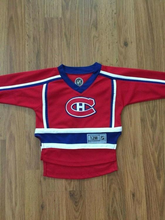 on sale 6f02f d25ce Montreal Canadiens NHL Infant Child 12M Kids Sewn On Hockey Jersey!