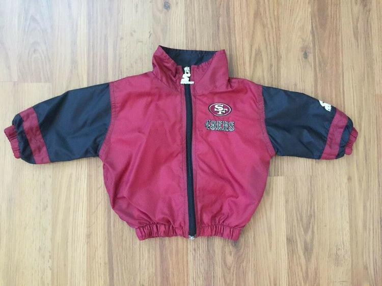 meet f43ff 13f3a San Francisco 49ers NFL SUPER VINTAGE 90s Starter Kids Size 18M Zip Up  Jacket