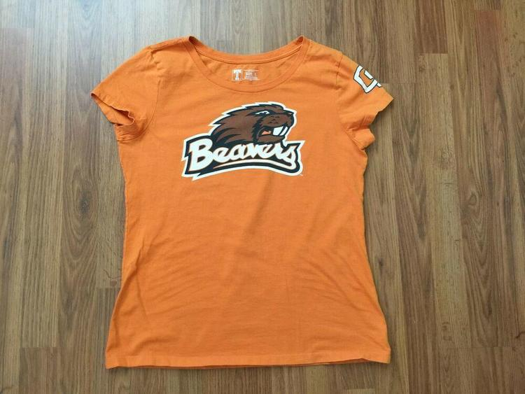 2f6fca42 Oregon State Beavers NCAA SUPER AWESOME Size Large Women's Cut T Shirt!