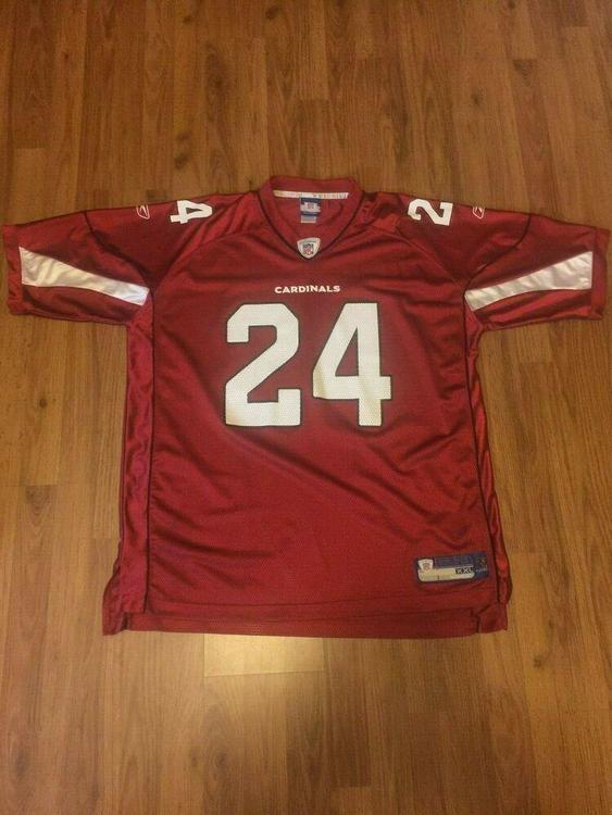 new concept 1170d 9b4e4 Arizona Cardinals Adrian Wilson #24 NFL Size XXL 2XL Reebok Football Jersey!