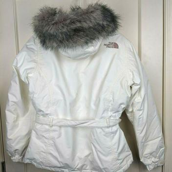 c08bc46d6 The North Face 550 Goose Down Puffer White Parka Jacket Faux Fur ...