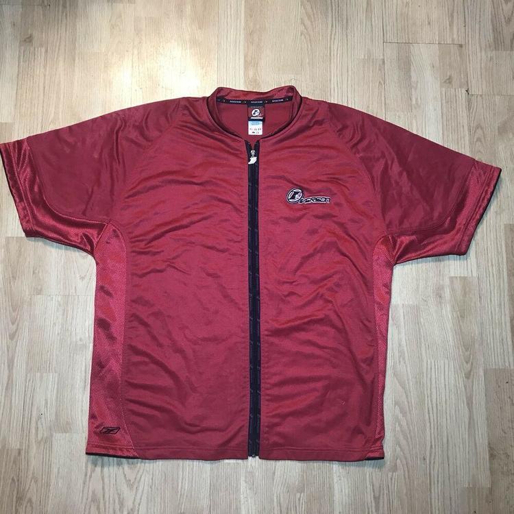 6fb75540aa8d1 VTG Reebok Allen Iverson Answer Mens Full Zip Up Red Warm Up XXL Shooting  Shirt