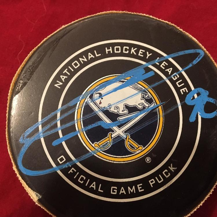 official photos aeba7 e44d3 1/11/18 Ryan O'Reilly Signed Autographed Buffalo Sabres Game Used NHL  Hockey Puck vs Blue Jackets