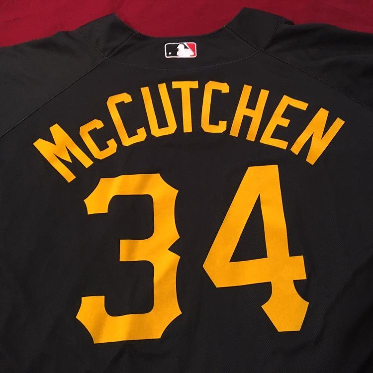 info for ea7f1 169bc Daniel McCutchen Pittsburgh Pirates Team Issued Majestic MLB Batting  Practice Baseball Jersey SZ 46