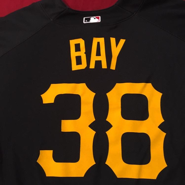 super popular c0991 b2a31 Jason Bay #38 Pittsburgh Pirates Majestic MLB Batting Practice Jersey Size  Medium (Canada HOF)