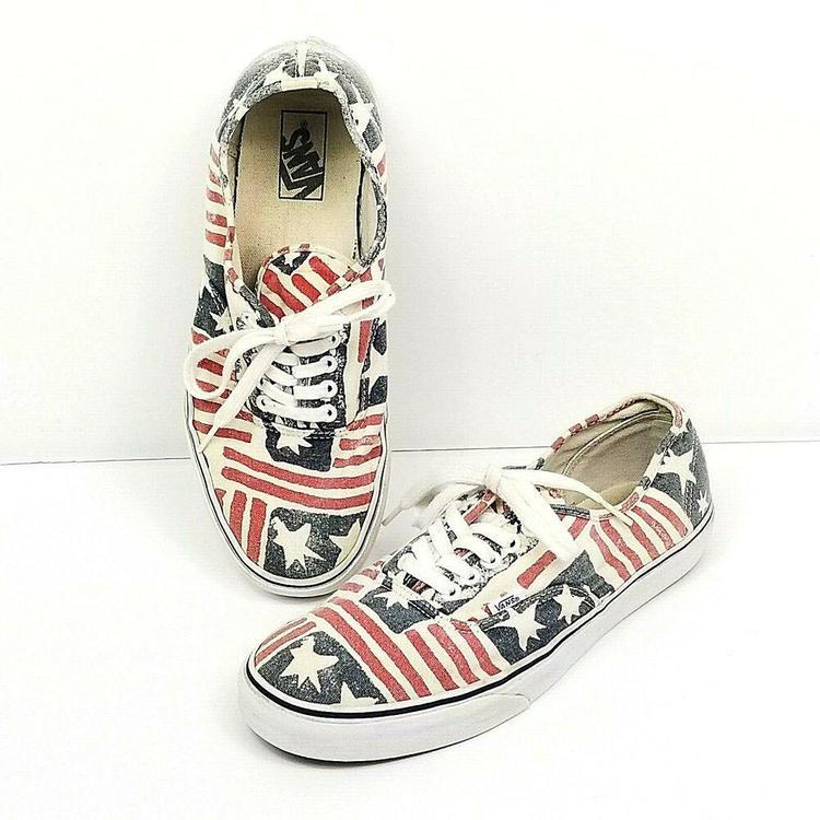 tolle Preise Wählen Sie für späteste heiß-verkaufender Beamter Vans Van Doren Stars Stripes American Flag Shoes Mens Size 10.5 Womens Sz  12 Vtg