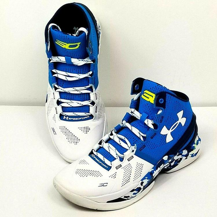 buy online db5d8 14ad9 Under Armour Stephen Curry 2 Haight Street Blue Camo 1259007-428 Mens Size  8.5