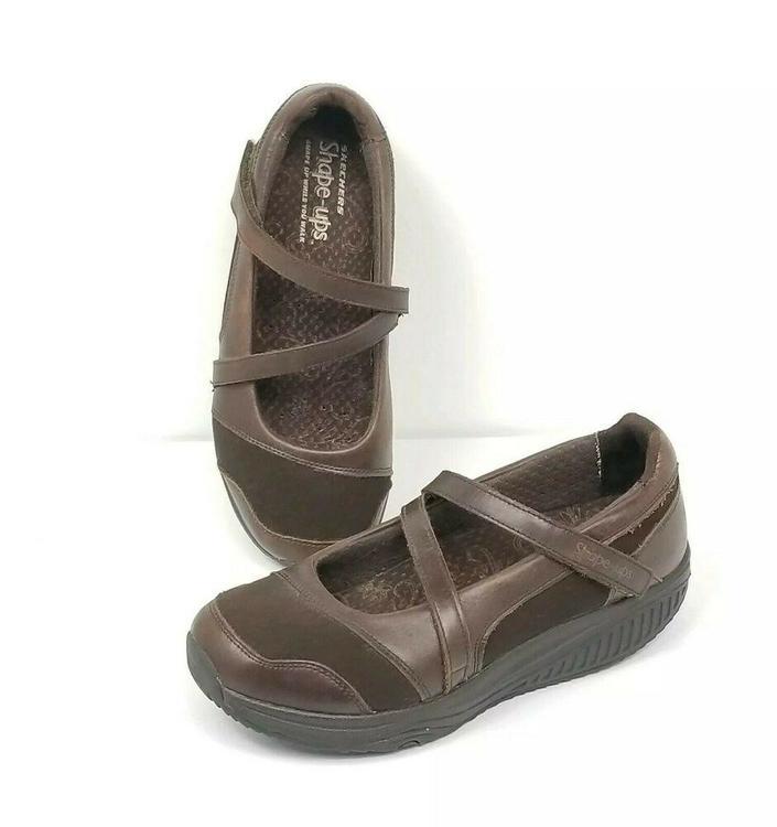 Skechers Shape Ups 24866 Toning Walking Mary Jane Shoe Womens 9 Sneaker Brown