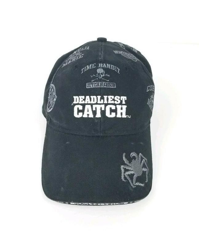 7e4014285a7 Deadliest Catch Crab Fishing Hat Sports Dad Cap Fish Boats Men Hats Alaska  Black