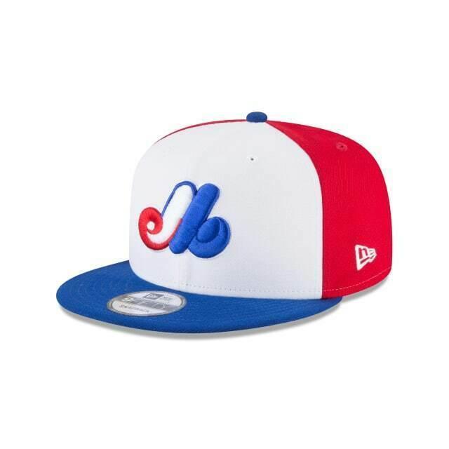 2b7cf839 Montreal Expos New Era 9FIFTY MLB Snapback Hat Cap Cooperstown Flat Brim 950