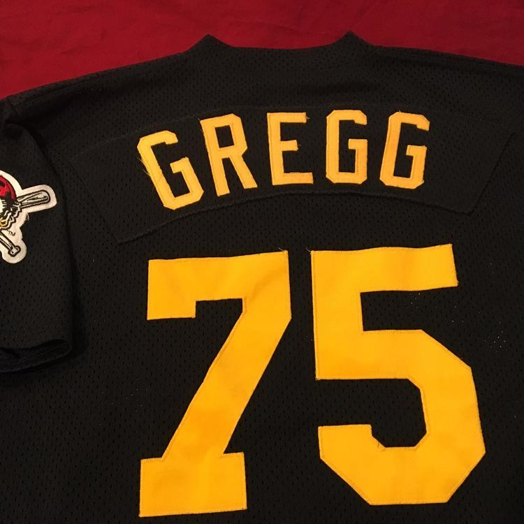 new product 5eb2f 3dda3 Tommy Gregg Pittsburgh Pirates Game Used Worn MLB Majestic Batting Practice  Jersey Size 48