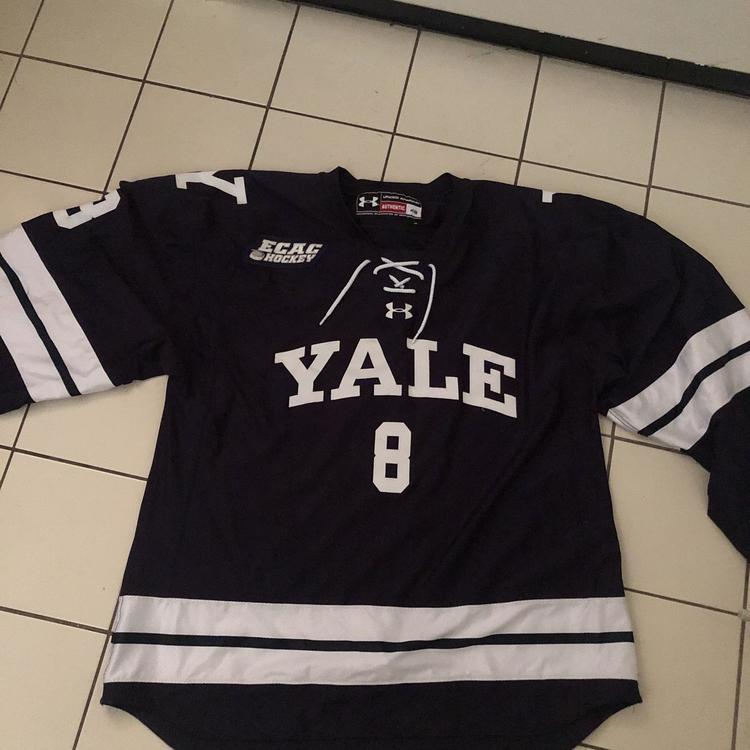best loved dff95 7231a Yale NCAA Game Worn Jersey